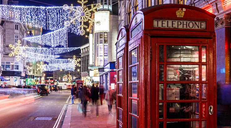 christmas destinations. London