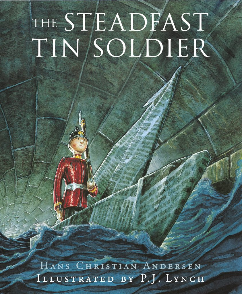 winter books. Christmas books. the steadfast tin soldier, Hans Christian Andersen