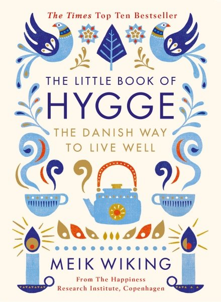 Winter books. Cover of ''The Little Book of Hygge'' by Meik Wiking.